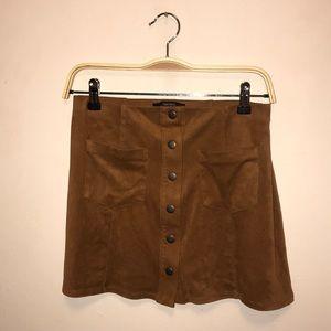 SO SOFT Forever 21 Tan Skirt (S)
